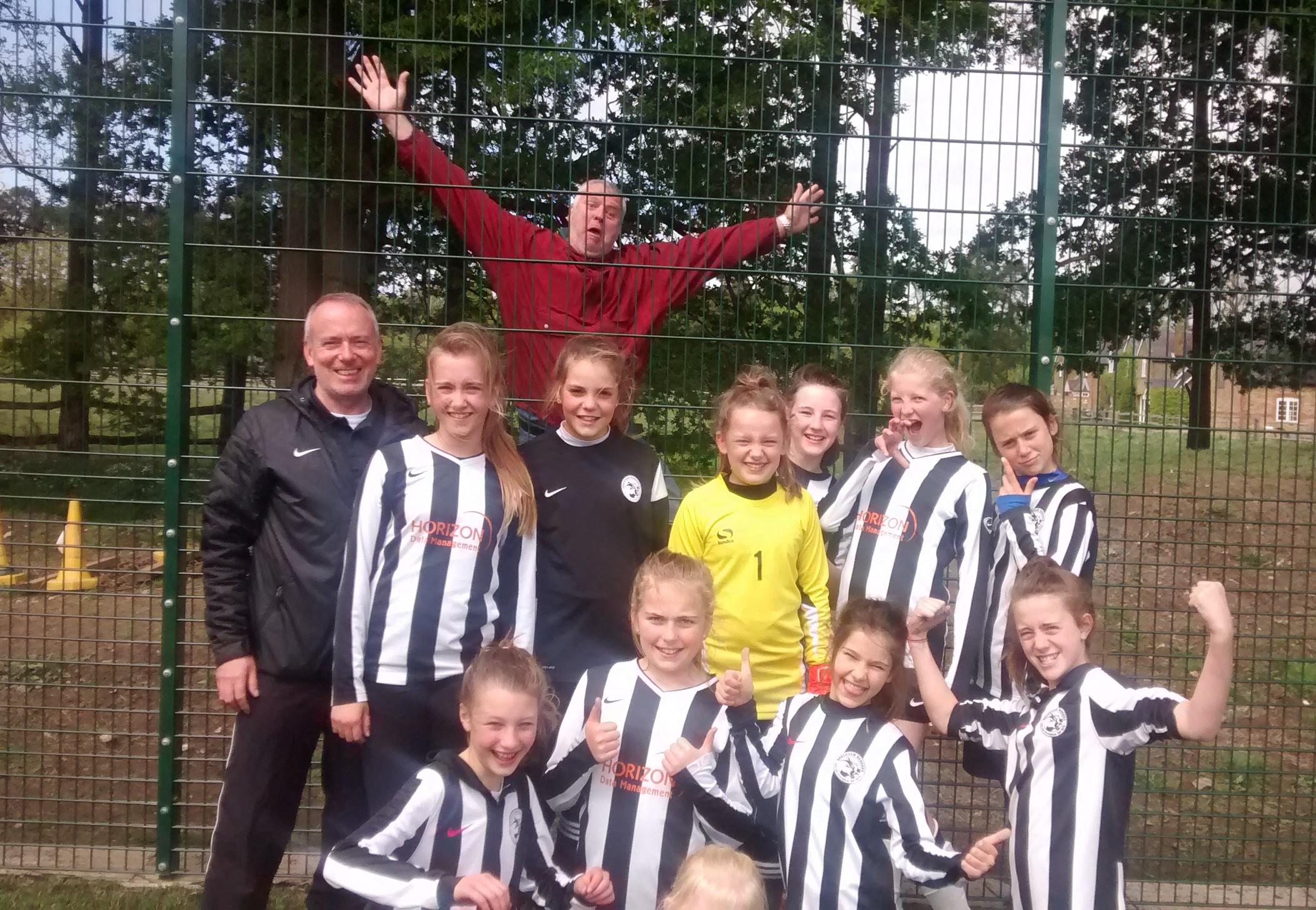 Girls and Photobomber Horsley FC Tournament 2015
